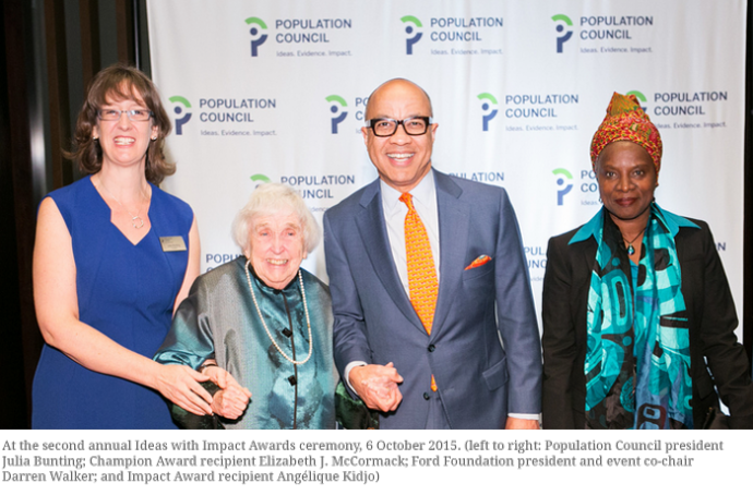 Population Council Hosts Second Annual Ideas with Impact Awards