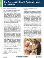 The community health system in Mali: An overview