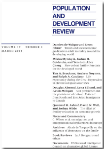 population and development review pdf